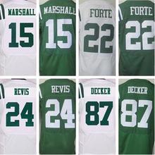 2016 NEW MEN 'S Cheap 15 Brandon Marshall 22 Matt Forte 24 Darrelle Revis 87 Eric Decker white green 100% Stitiched jersey(China (Mainland))