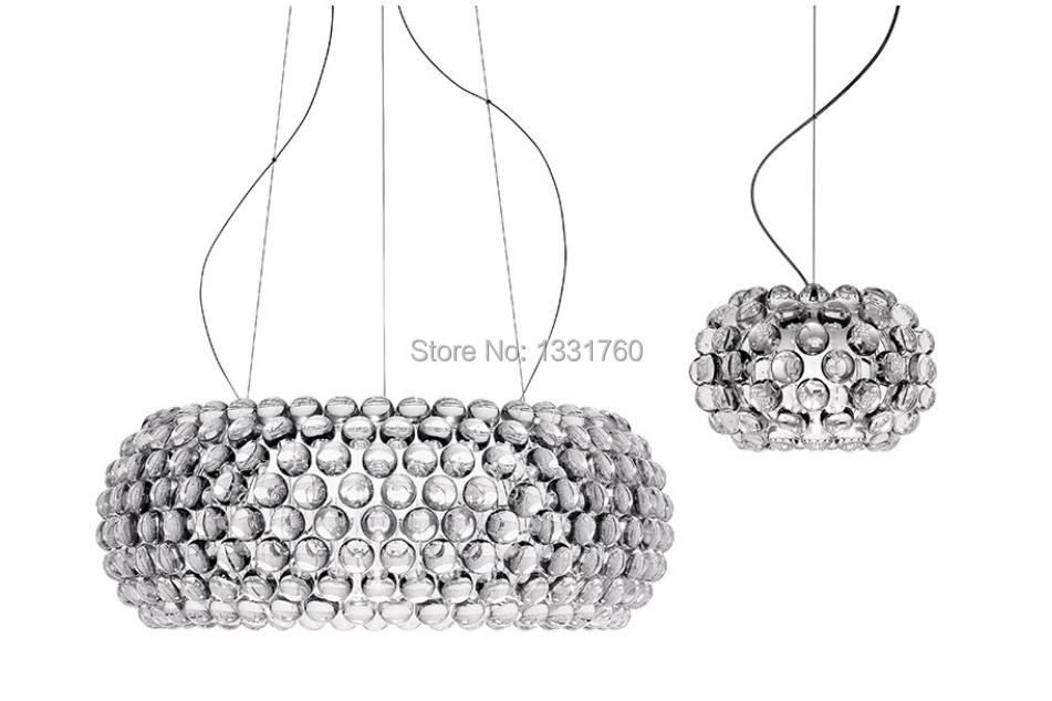 Foscarini Caboche Pendant Lamp LED Chandelier light by PATRICIA URQUIOLA + ELIANA GEROTTO,Clear Transparent Acrylic Ball 3 sizes(China (Mainland))