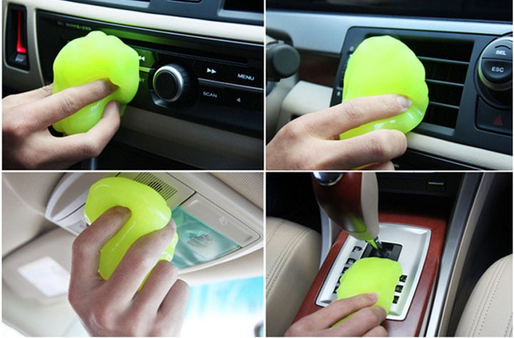 car cleaning sponge products auto universal cyber super clean glue microfiber dust tools mud gel products car accessories C0012(China (Mainland))