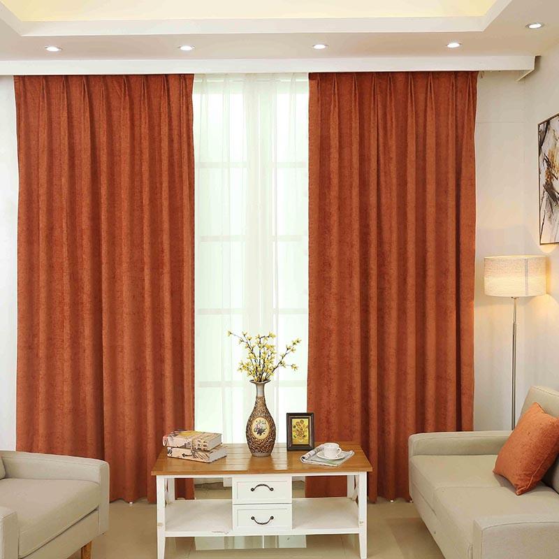 Popular solid orange curtains buy cheap solid orange for Cortinas naranjas para salon