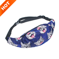 Summer style fashion adjustable length small cute cat 3D Printed casual Fanny Money Waist Bag Belt