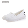 New 2016 Women White Casual Cotton made Canvas Shoes Woman Walking Shoes Women s Casual Shoes