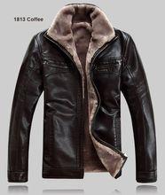 Winter warm motorcycle Leather jacket Men's Casual Brand Jacket luxury fur sheep leather men's fur outerwear design Plus jacket(China (Mainland))