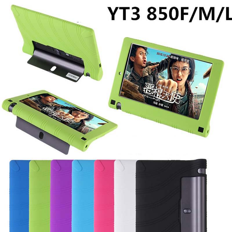 Для lenovo yoga3 йога 3 tab3 yt3 850f 850 м 850л tablet крышка высокое качество мягкой силиконовой резины задняя крышка мягкий защитный рукав