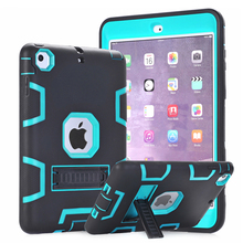 For Apple iPad Mini 1 2 3 Case Cover Armor Defender Heavy Duty Rugged Hybrid Three Layer Full Body Protective Case w/Kickstand(China (Mainland))