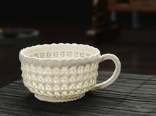 Free Shipping Handmade grade woven exquisite hollow Coffee Cup