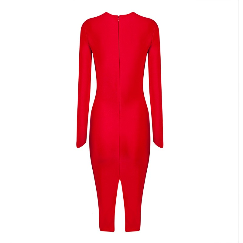 2015-new-fashion-elegant-and-sexy-women-red-black-keyhole-cutout-long-sleeve-evening-party-bandage (1)