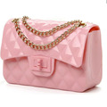 High quality cute small flap crossbody bag women jelly candy color handbag purse