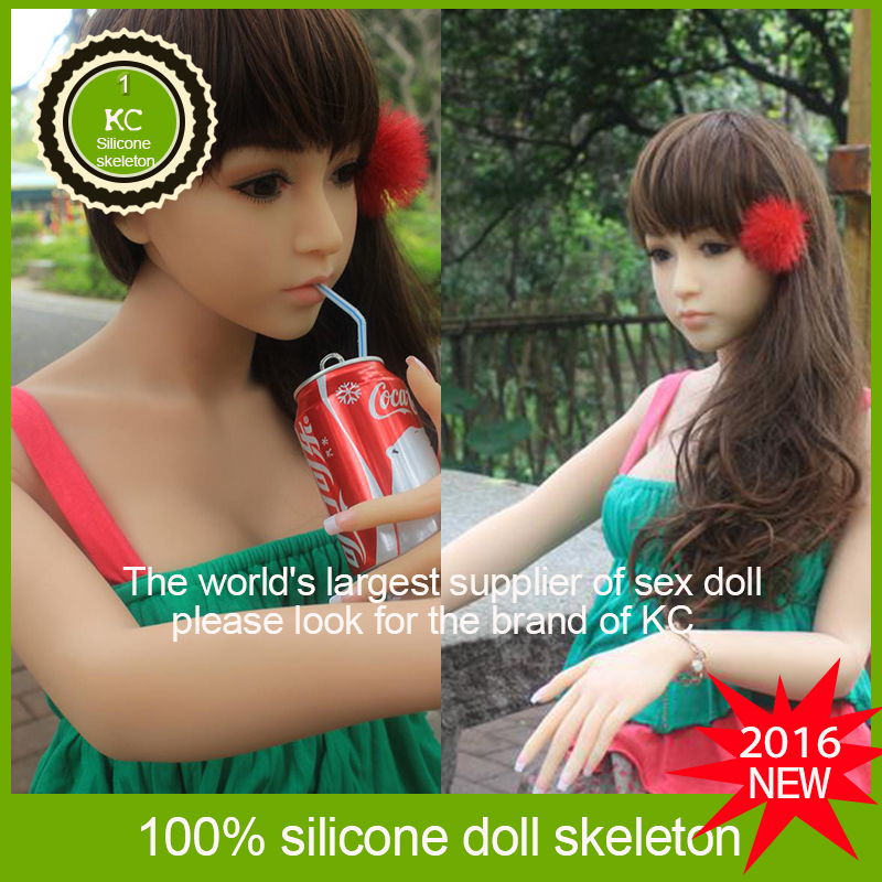 2016 TPE Sex Doll Real Life big Silicone Breast Toy Full Body Rubber Asian Silicon Sex Doll Mini Real Solid 158cm latex doll KC(China (Mainland))