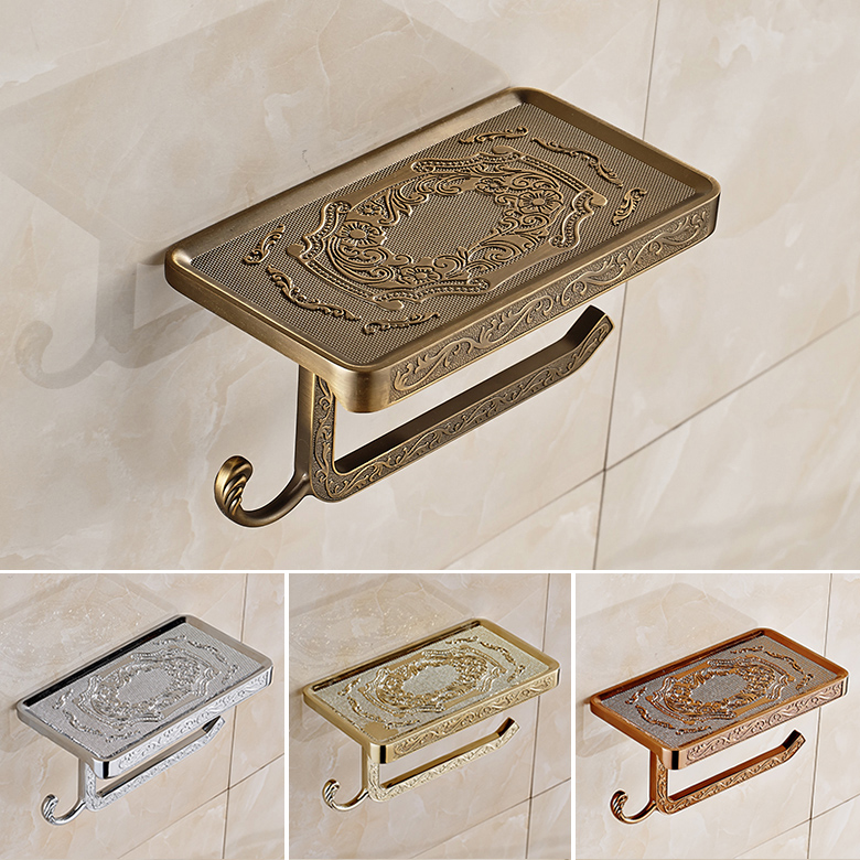 Free Shipping Antique Brass Finish zinc alloy toilet paper holder bathroom holder toilet paper holder four colors choice J9951(China (Mainland))