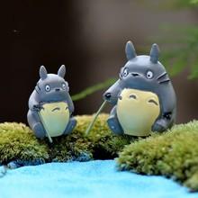 1Pcs Fishing DIY Totoro Resin Fairy Garden Craft Decoration Miniature Micro Gnome Terrarium Gift F0081