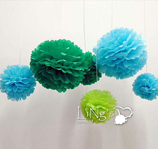 livraison gratuite 25 cm papier de soie multicolore boule. Black Bedroom Furniture Sets. Home Design Ideas