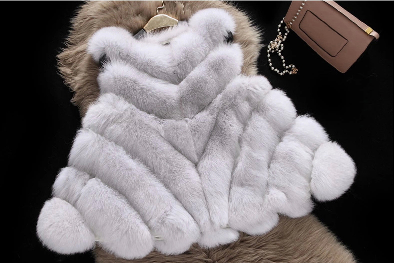 Winter New Fox Fur Vest Women Elegant Real Full Pelt Gilet Natural Fashion Coat with&without Sheepskin Sleeves - Angel Shopping Mall store