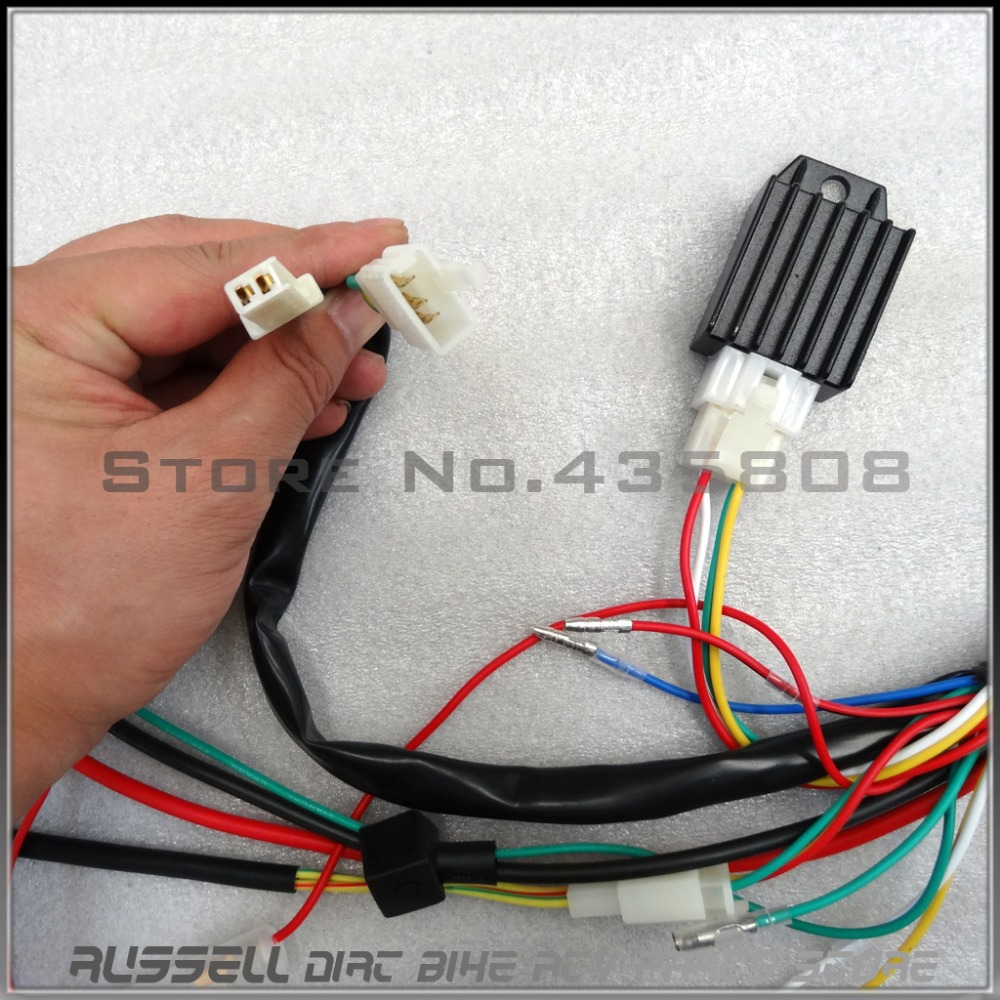 Full Electrics wiring harness CDI coil 110cc 125cc ATV Quad Bike Buggy gokart diagrams 1500878 chinese 110 atv wiring diagram chinese atv 110  at gsmx.co