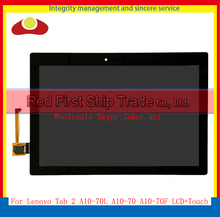 """10.1"""" For Lenovo Tab 2 A10-70 A10-70F A10-70L Tablet Full LCD Display With Touch Screen Sensor Digitizer Assembly Complete(China (Mainland))"""