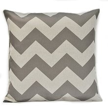 Vintage Linen Cotton Chevron Zig Zag Pattern Throw Pillow Case Cushion Cover