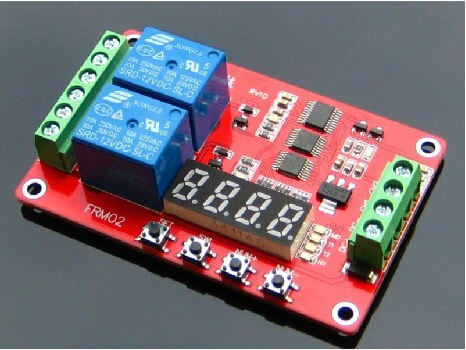 FRM02/two multi-function relay module self-locking/cycle/delay/timer/18 function can be set(China (Mainland))
