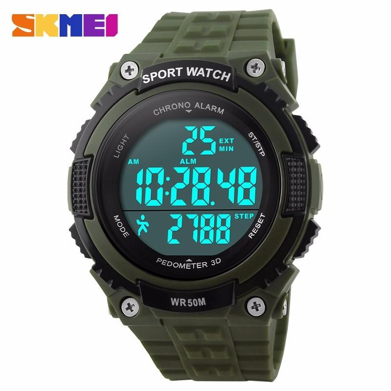 SKMEI Waterproof Sports Watches Men Women Army Military Watch Stopwatch 3D Pedometer Led Digital Wristwatch Relogio Masculinos<br><br>Aliexpress