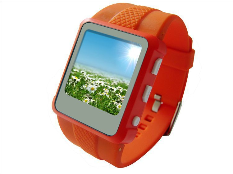 2G Multi-functional MP4 Watch Player With FM Radio 1.5 inch Touch Screen E-Book Reading Photo Calendar Free Shipping(China (Mainland))