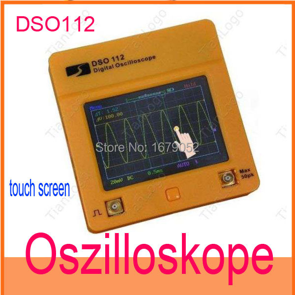Гаджет  DSO112 touch screen Digital LCD Oszilloskope Oscilloscopes DC/AC Oszilloskop Analog Band Width: 0 - 2MHz  None Инструменты
