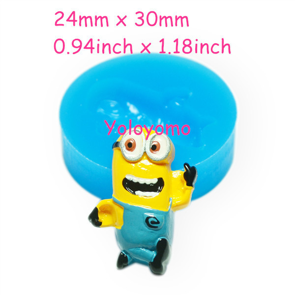 Free shipping F200YL Despicable Me Minions Mold Cartoon Fondant Cake Molds Chocolate Mould for Kitchen Baking Mold Food Safe(China (Mainland))