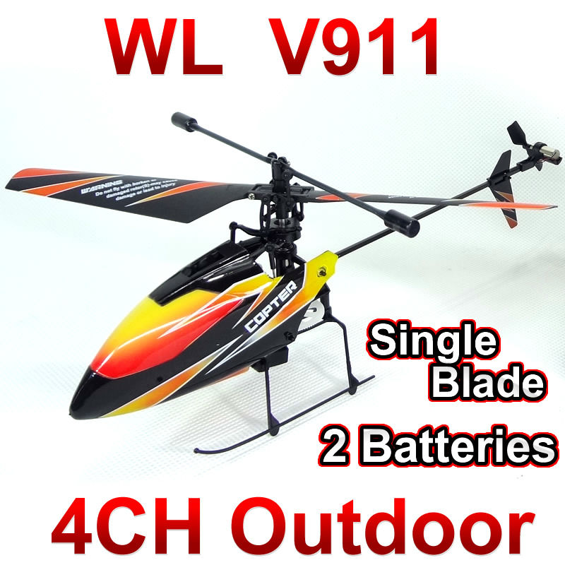 WL toys V911 4CH 2.4GHz Radio Control Helicopter RTF,Single Blade RC Helicopter Gyro,Perfect mini wltoys FSWB(China (Mainland))