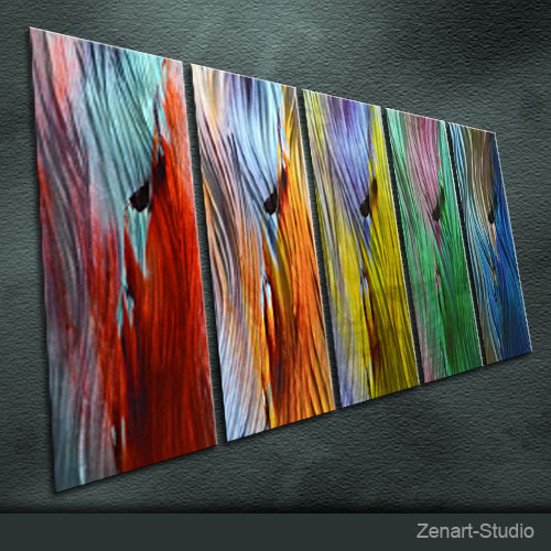 Original Metal Wall Art Modern Abstract Painting