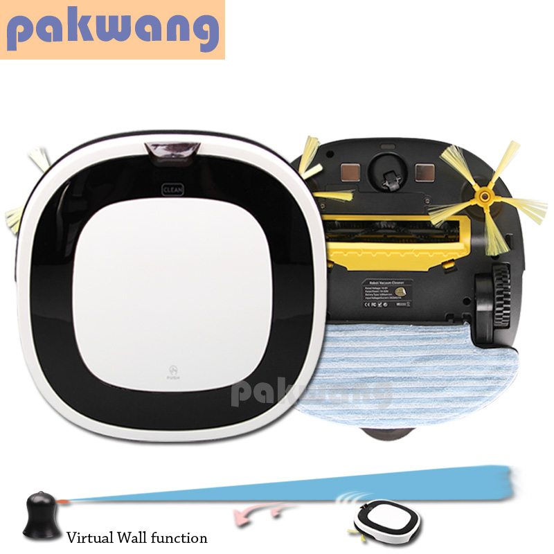 SQ-D5501 Robot vacuum cleaner 4 In1 (Vacuum,Sweep,Mop,Washing)LED Screen,Virtual Wall, Self-charge Wet Mop Washing Cleaner(China (Mainland))