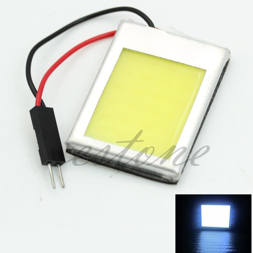 8W Aluminum T10 Dome Festoon Car Interior License Plate COB LED Lamps Light(China (Mainland))