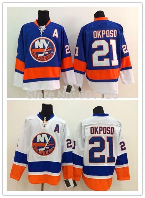 Online Get Cheap Islanders Jersey -Aliexpress.com | Alibaba Group,NBAJERSEYS_WWSXRDI453,Quality Assurance Cheap Kyle Okposo Jersey #21 NY New York Islanders Jerseys blue home white