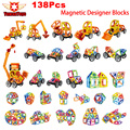 Magnetic Designer Mini Building Blocks 138Pcs Lot Construction Toy Kids Educational Toys Plastic Creative Bricks