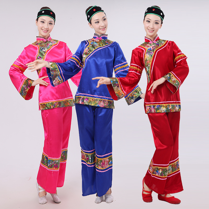 Chinese ancient Drama aged woman matchmaker square dance Yangko clothing costume costumes female classical dance clothes(China (Mainland))