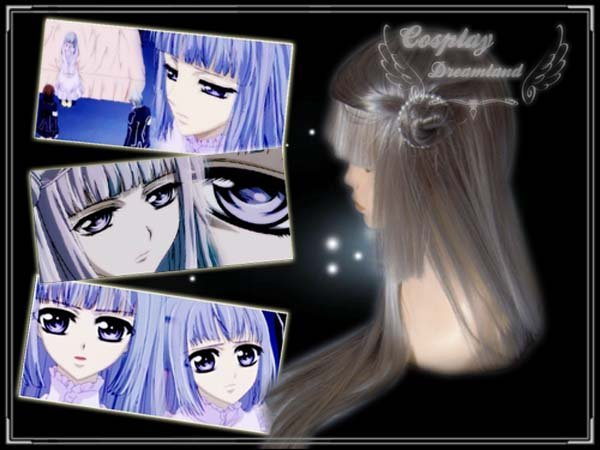 Wholesale Free Shipping Hot Selling Cheapest Halloween Vampire Knight Cosplay Wig Maria Renai Wig