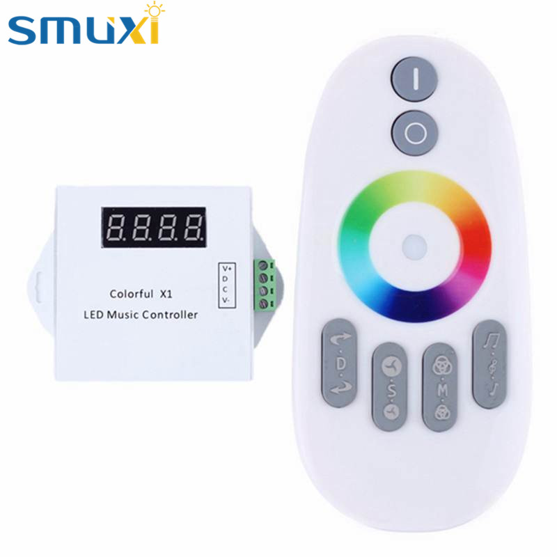 Smuxi WS2811/WS2812B/USC1903 LED Digital Music Controller With RF Touch Remote For RGB Strip Light DC5-24V(China (Mainland))