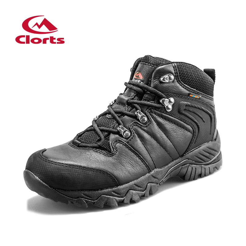 New Clorts Men Waterproof Hiking Boots Climbing shoes Trekking boots Full Grain Leather Male Sports Shoes Black Boots HKM-822D<br><br>Aliexpress