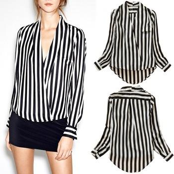 Женские блузки и Рубашки Brand New 2015 V Blusas 276 женские толстовки и кофты new brand 2015 ballinciaga 2 piece 8718