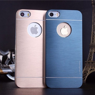 Гаджет  Free Shipping Top Quality Fashion Metal Brush Case For iPhone 5 5s Aluminum PC Gold Luxury Hard Back Cover Motomo Logo Case None Телефоны и Телекоммуникации