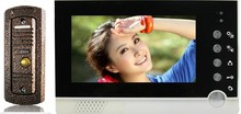 7-inch Large TFT Color Screen HD 3G Digital Video Doorphone Camera with Monitor Function with touch key(China (Mainland))