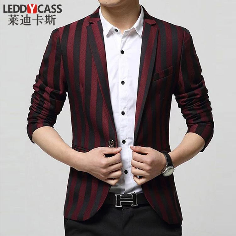 Men Suit,Fasion spring and summer thin Suit, Jacket ,Young Man Suit.Striped Suit.Îäåæäà è àêñåññóàðû<br><br>