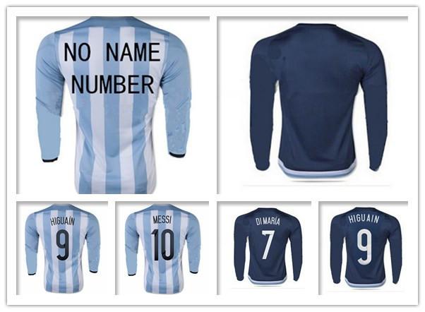 Hot Selling 1516 Argentinaes Lucas Biglia Ezequiel Lavezzi soccer shirts Survetement Football Camisetas Maillot De Foot S-XL(China (Mainland))