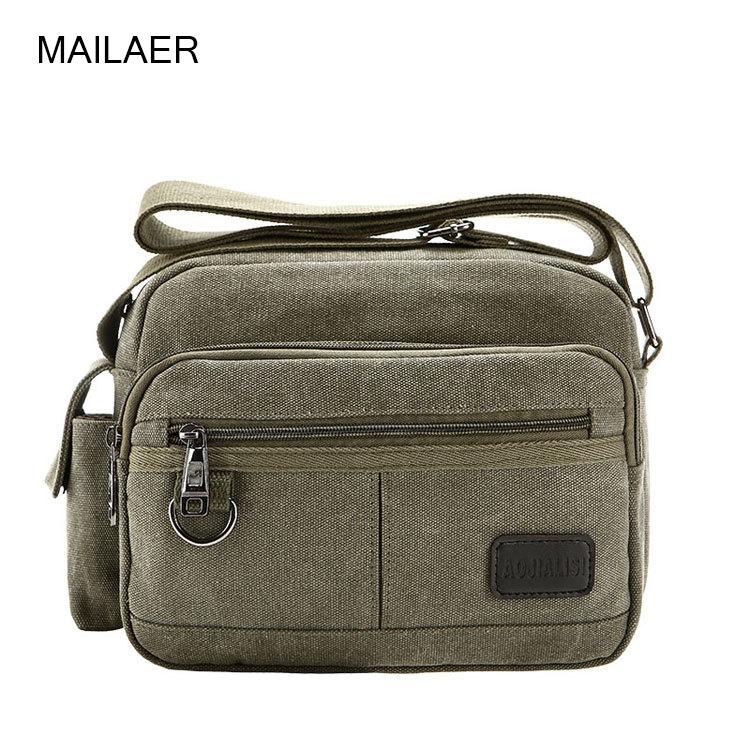 MAILAER new men's casual wear multifunction shoulder bag Messenger bag of the retro canvas man bag(China (Mainland))
