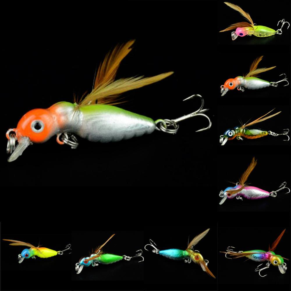 2016 Random Color Hot Sale New Promotions 1 Pcs 8-Color Cicada Baits Fishing Lures Bass Crank baits 4.5cm 3.4g Float Baits(China (Mainland))
