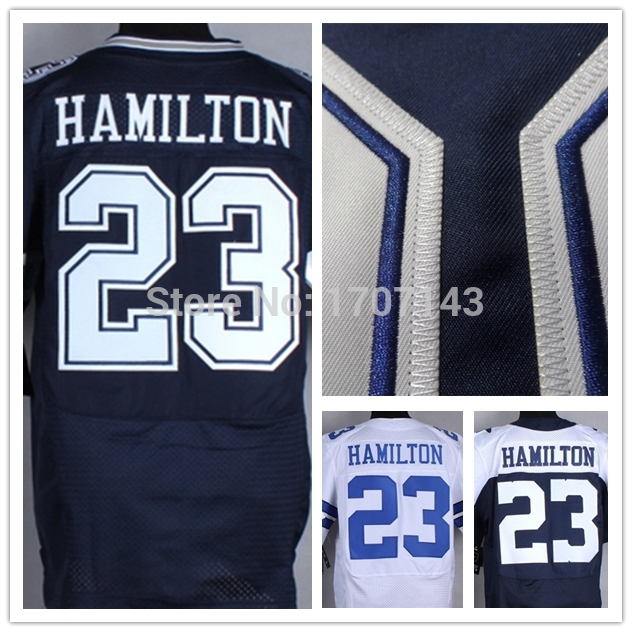 23 Hamilton Jersey,Cheap American Football Jersey,Rugby Embroidery Shirts,Dallas Elite Jersey,Authentic sports Jerseys 5XL(China (Mainland))
