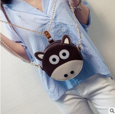 The new 2016 national wind zodiac lovely circular zero purse personality one shoulder bag phone bag creative female bag(China (Mainland))