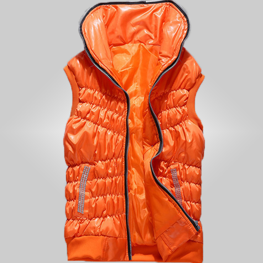Free shipping women's down and cotton casual vest multicolor optional(China (Mainland))