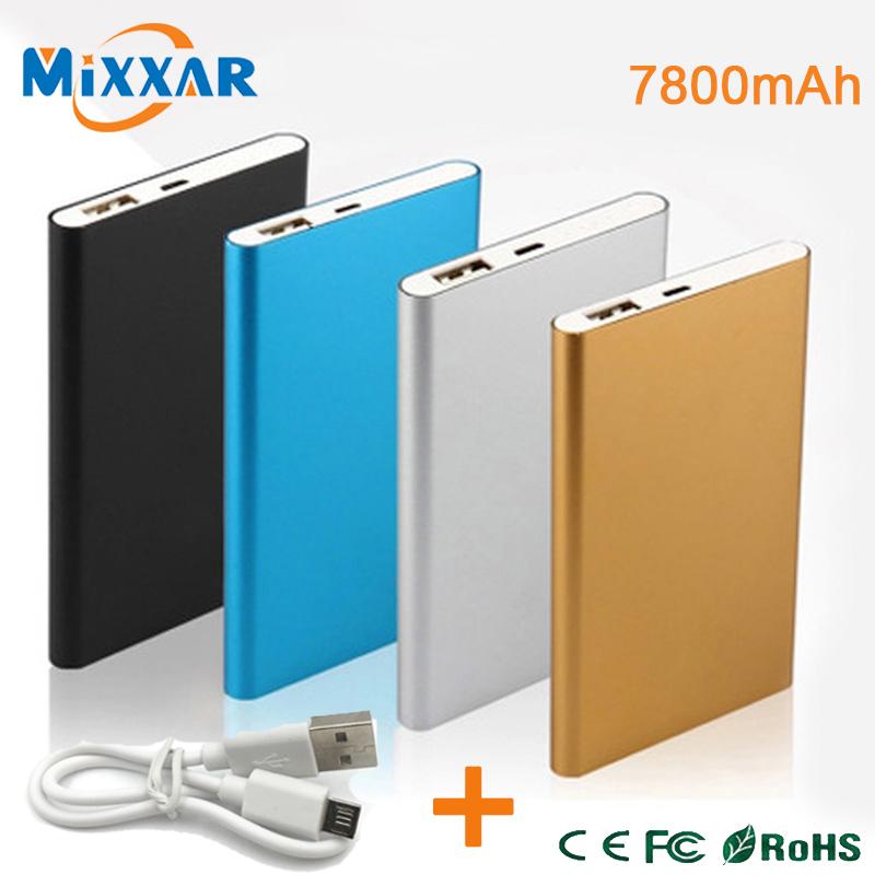 ZK53 Metal Slim Power Bank 7800mAh USB External Backup Battery Portable Charger PowerBank For Universal SmartPhone(China (Mainland))