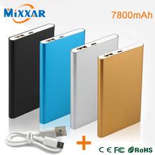 ZK90 Metal Slim Power Bank 7800mAh USB External Backup Battery Portable Charger PowerBank For Universal SmartPhone