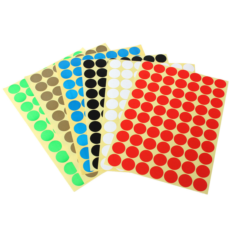 15Pcs 19mm Circles Round Coloured Code 70 Dots Stickers Self Adhesive Sticky Spot Labels For Crafts Reward Charts DIY Scrapbook(China (Mainland))