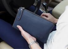 2015 Men s Wrist Strap Cowhide Genuine Leather Handbag