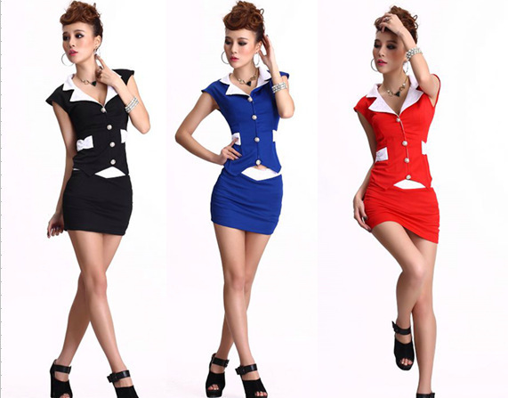 Sexy hot sale hot to wear pretty girl manager office overalls uniforms clothing technician(China (Mainland))